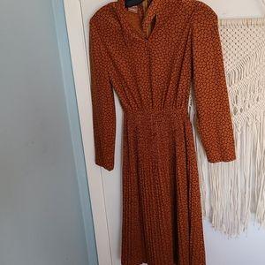 Vintage 70s style orange dress